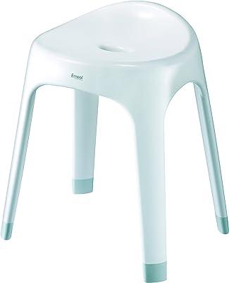 アスベル 風呂椅子 「Emeal」 高さ40cm Ag 抗菌 ホワイト