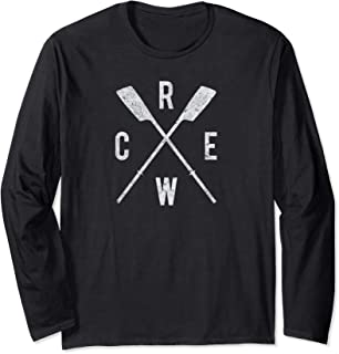 Rowing Crew Shirt with Oars Crew Team Row Coach Coxswain
