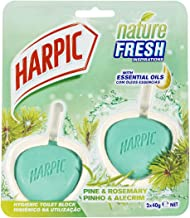 Harpic Fresh Hygienic Toilet Block Cleaner Pine & Rosemary, 80ml (Pack of 2)