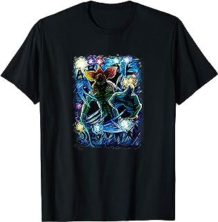 Stranger Things Demogorgon Starry Night Letter Poster Camiseta