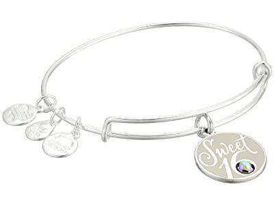 Alex and Ani Sweet 16 Bangle (Shiny Silver) Bracelet