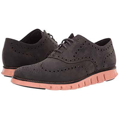 Cole Haan Zerogrand Wingtip Oxford Leather (Magnet Leather/Black/Canyon Sunset) Men