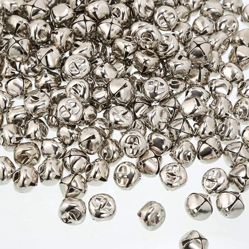 VIVIPA Pack of 40 pcs 1 Inch Christmas Jingle Bells for Holiday Decoration and DIY Craft Bells (Silver)