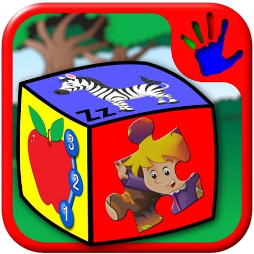 Preescolar ABC número y letra juegos de Puzzle - enseña niños los alfabeto contando y jigsaw formas convenientes para los niños en edad del niño de 2 años y hasta