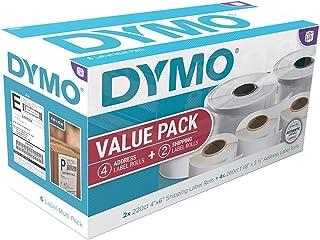 DYMO LabelWriter 超值白色地址(4 克拉)和运输标签(2 克拉)