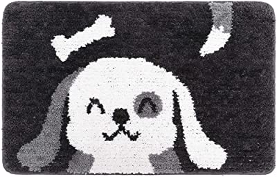 ESUPPORT Bath Mats Rug Cartoon Dog Entrance Mat Welcome Outdoor Indoor Non Slip/15.7 x 23.6