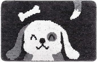 ESUPPORT Bath Mats Rug Cartoon Dog Entrance Mat Welcome Outdoor Indoor Non Slip/15.7 x 23.6