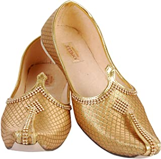 JOPELLE Men's Golden Wedding & Sherwani Juttis Jutti/Golden Jutti/Designing Jutti