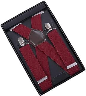 Men Suspenders Zoyette Suspenders For Men 10 Colors 4 Clips Wide 1.4