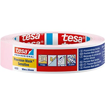 TESA 4333 précision Crêpes bruns sensible 50 M x50mm 0,18 €//m rose pâle