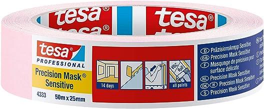 Tesa 43330001801 precisiegevoelig, scheermes scherpe rand en laag kleefband voor binnen schilderen en decoratie, residuvri...