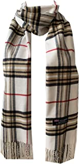 WA - New 100% Cashmere Winter Womens Mens Wool Wrap Scarf Made in Scotland Plaid Scarves