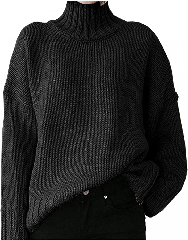 Hemlock Women Winter Knitted Sweater Turtleneck Cropped Sweater Coat High Collar Outerwear Pullovers