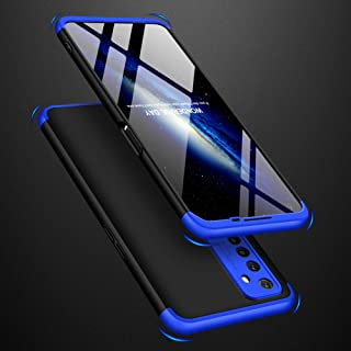 AKDSteel Anti-Drop Protective Shell for O-PP-O Realme 6 Mobile Phone Cover 360 Degree Full Protection Phone Case Blue Blac...