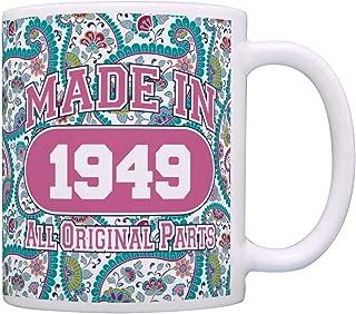 70th Birthday Mug Made 1949 Paisley Birthday Mug Decorations Coffee Mug Tea Cup Paisley
