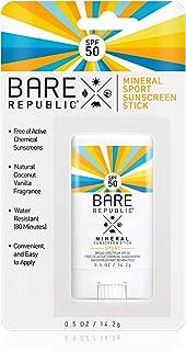 Bare Republic Mineral Sport SPF 50 Sunscreen Stick (.5 oz)