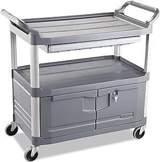 Rubbermaid Commercial RCP 4094 GRA Xtra Instrument Cart, 300 lb. Cap, Three-Shelf, 20