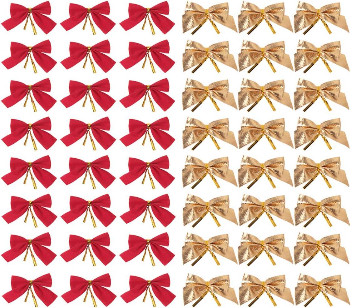 yalansmaiP 144 Pack Mini Christmas Ornamen Ranking TOP12 Ribbon Bows Max 89% OFF Tree