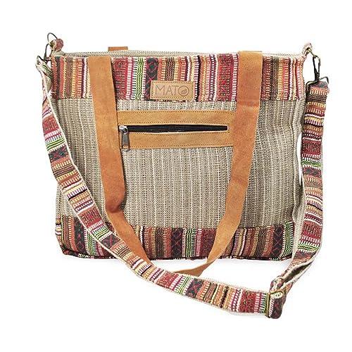 d15c3074929c9 Mato Boho Crossbody Shoulder Hemp Tote Bag Bohemian Shopping Handbag Tribal  Aztec Baja Pattern