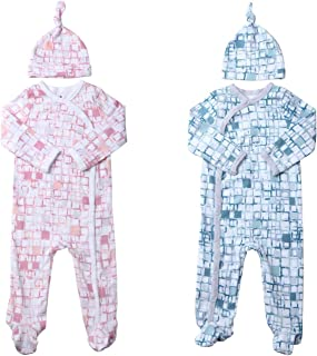 Twin Outfits for Boy and Girl Including Footies Bodysuits & Pajamas Gifts Set