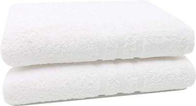 ZOLLNER 6 Pezzi d/'Asciugamani in Spugna Cotone Bianco 50x70 cm 650g//mq