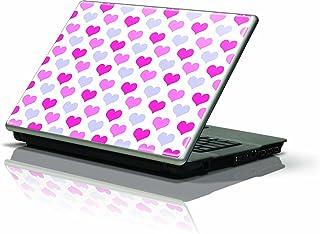 جلد واقي للبشرة من سكينيت (يناسب أحدث أجهزة الكمبيوتر المحمول بحجم 10 بوصة / نت بوك/نوت بوك)؛ قلوب عصرية وردية