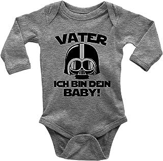 Mikalino Babybody mit Spruch für Jungen Mädchen Unisex Langarm Vater - ich Bin Dein Baby! | handbedruckt in Deutschland | Handmade with Love