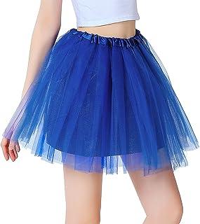c4798d5b5f1 iLoveCos Années 80 Fluo Néon Tutu de Ballet Filles Bulle Jupe de Danse Mini  Tulle Jupon