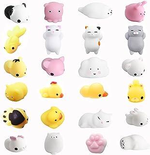 Amaza 24pcs Squishy Kawaii Animali Antistress Squishies Slow Rising 3D Silicone Squishy Morbidosi Piccoli Giocattolo (Mult...
