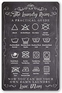 Plaque en métal durable avec inscription « The Laundry Room Guide » - Utilisation intérieure ou extérieure - Excellente dé...