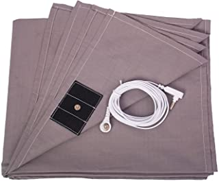 Grounding Sheet Silver Fiber and Fotton Material with grounding Cord for Good Healthy (27x52 inch)