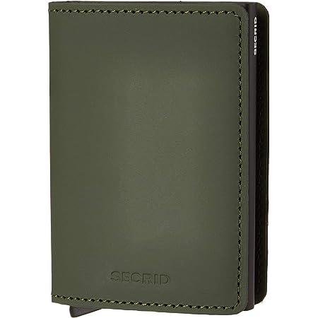 Secrid Slim Wallet Matte Leather With Rfid Safe Card Case (Matte Green Black)