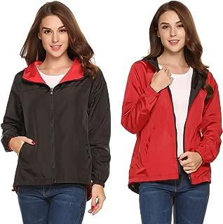 Women Casual Hooded Long Sleeve Outdoor Waterproof Raincoat Jacket