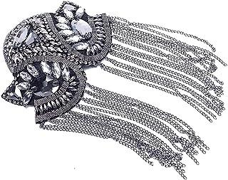 SKREOJF Badges d'épaule à la Main à la Main Tassel Badges Badges Pèles Patchs Epaulet Epaulette Vintage Vêtements Décor Co...