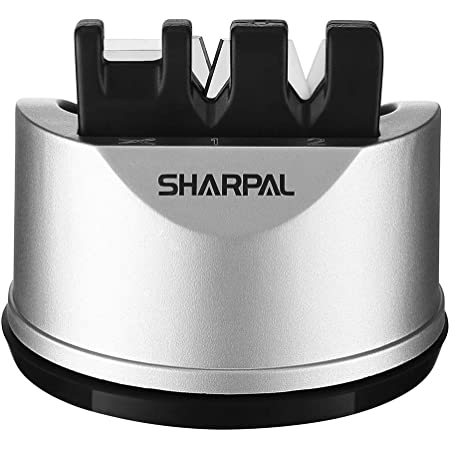 SHARPAL 191H Aiguiseur de couteaux de cuisine de poche pour couteaux droits et dentelés, outil d'affûtage en 3 étapes pour réparer et restaurer les lames