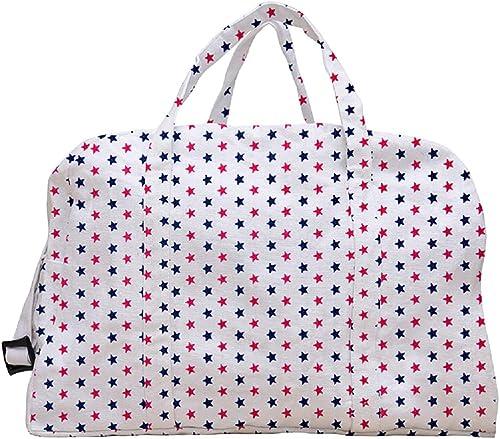 Cotton Folding Travelling Bag Star Printed Shoe Slipper Bag Eco Friendly Reusable Handbag Capacity 25 LTR 47 5 x 22 x 28 cm Multicolor 1 Pcs