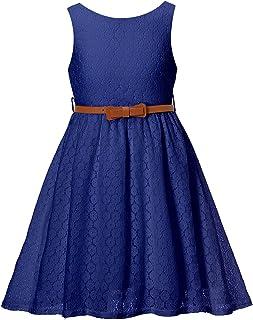 BINPAW Girls' Lace Dress with Belt
