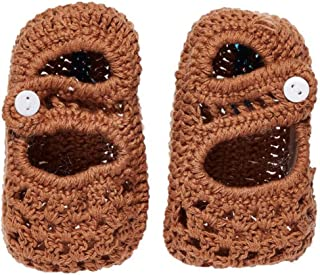 Smurfs - Baby Crochet Shoes - Brown - 0-3 M