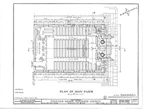 Historic Pictoric Structural Drawing HABS NY,3-Bronx,1- (Sheet 1 of 6) - Fordham Manor Reformed Church, 71 Kingsbridge Road & Reservoir Avenue, Bronx, Bronx County, NY 55in x 44in