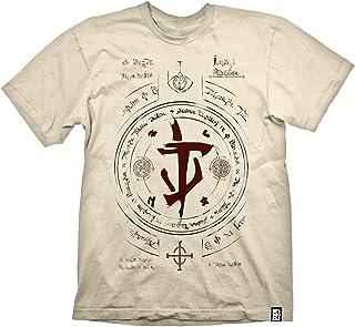 DOOM Eternal - Slayer Symbol Uomo T-Shirt Beige M 100% Cotone Regular