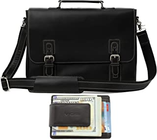 genuine leather mens messenger bag