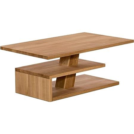 Marque Amazon -Alkove Hayes - Table basse à étagère, 110x70x45cm, Chêne sauvage