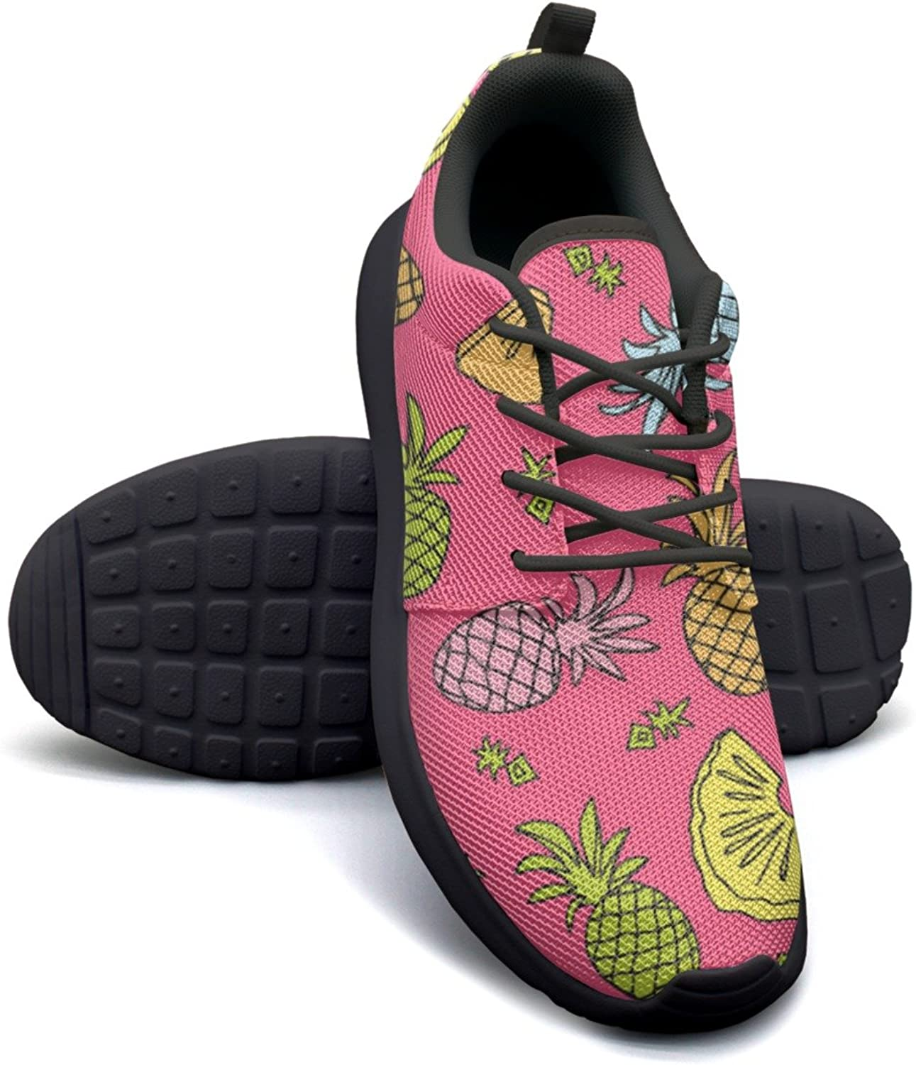 ERSER Tropical Fruit Pineapple Mix Womens Trail Running shoes