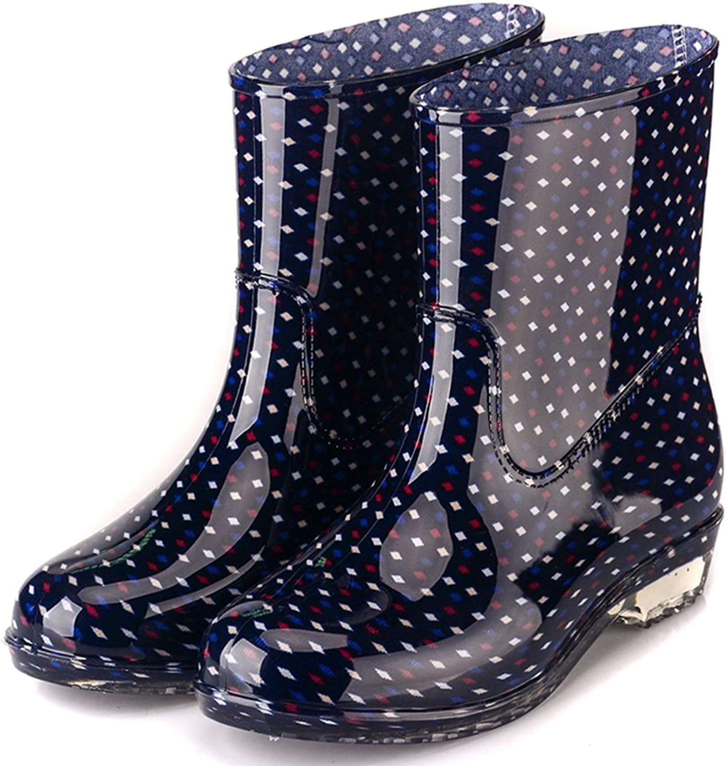 Womens Waterproof Rain Boots Rubber Festival Rain Mud Snow Ladies Fashion Wellington Wellies NonSlip Tall shoes Sizes