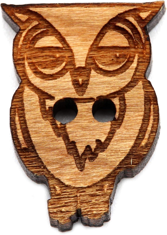 costura para manualidades costura arce fabricaci/ón de joyas 2 agujeros 5 unidades NaturSchatulle Botones de madera con dise/ño de alpaca botones para ni/ños