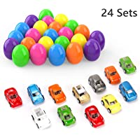 24-Piece Theefun Easter Eggs Filled with Popular Mini Toy Cars