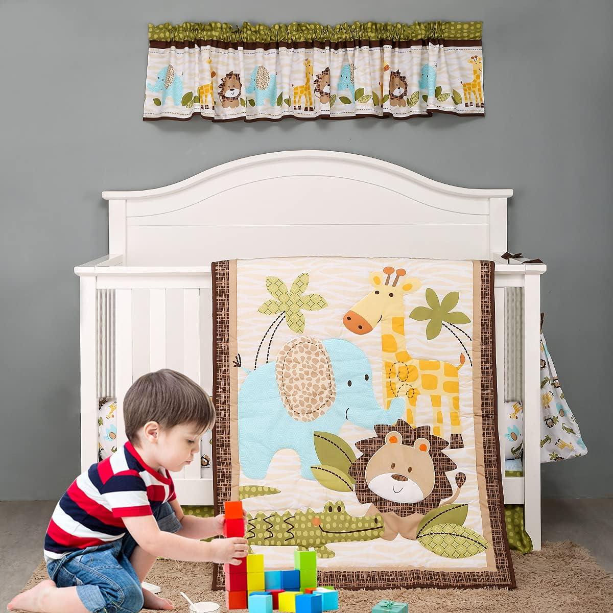 Brandream Jungle Elephant Baby Boys Nursery and Ranking TOP4 Girl Max 47% OFF Beddin Crib