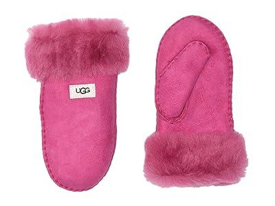 UGG Kids Sheepskin Mitten (Little Kid/Big Kid) (Fuchsia) Extreme Cold Weather Gloves