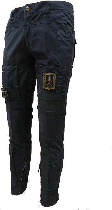Aeronautica militare pantalone anti-g pa1284ct, 08184 blu navy, uomo, trousers, pants, hosen PA1284CT-08184