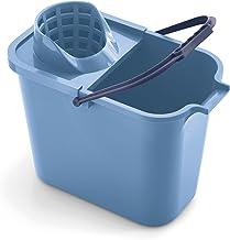 Mery 0111.31 emmer rechthoekig 12 liter met uitwringer, polypropyleen, 23 x 37 x 29 cm 23 x 37 x 29 cm blauw